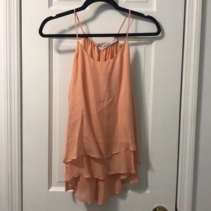 Tops - Double layered silk cami